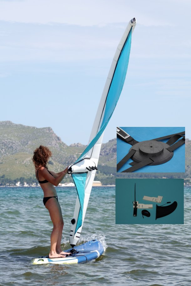 inflatable sail foot and fin